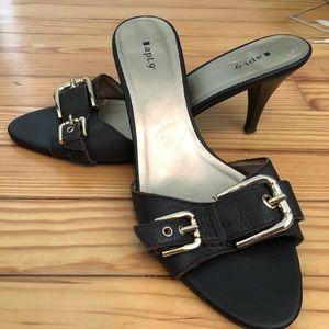 Used Apt. 9 open toe slip on heel